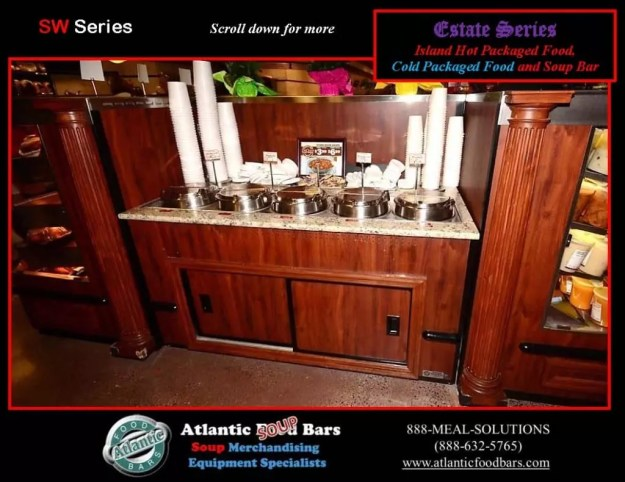 Atlantic Food Bars - Estate Series Custom Hot and Cold Packaged Food Island with Soup Bar 2
