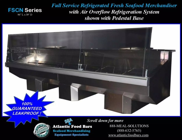 Atlantic Food Bars - Seafood Cases with Angled Ends and Pedestals - FSCN9639 1