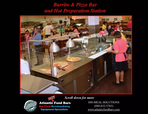 Atlantic Food Bars - Burrito & Pizza Bar and Carving Prep Station 1