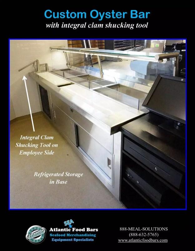 Atlantic Food Bars - Custom 8' Oyster Shucking Case 4