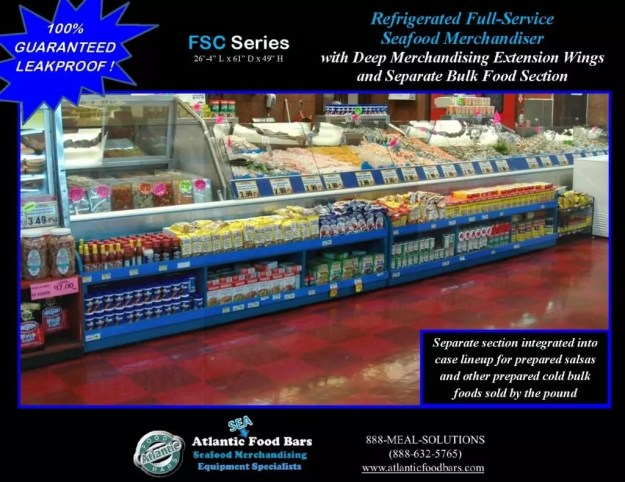 Atantic Food Bars - 26' Fresh Seafood Merchandiser with 4 wings and closed section for refrigerated bulk food - FSC31661-EW_Page_1