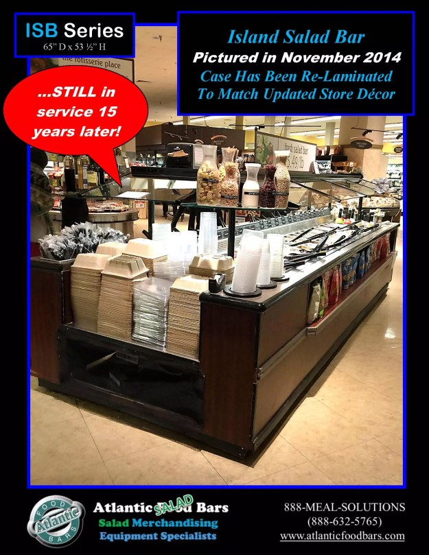 Atlantic Food Bars - The 15 Year Club - ISB14863 Refrigerated Island Salad Bar - STILL IN SERVICE! 3