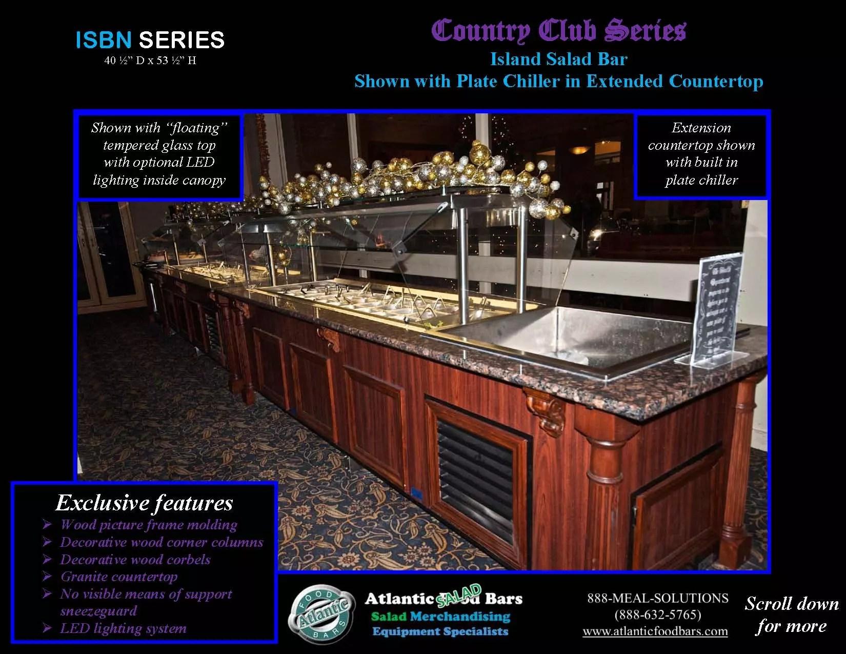 Atlantic Food Bars - Country Club Series Island Salad Bar | The ...