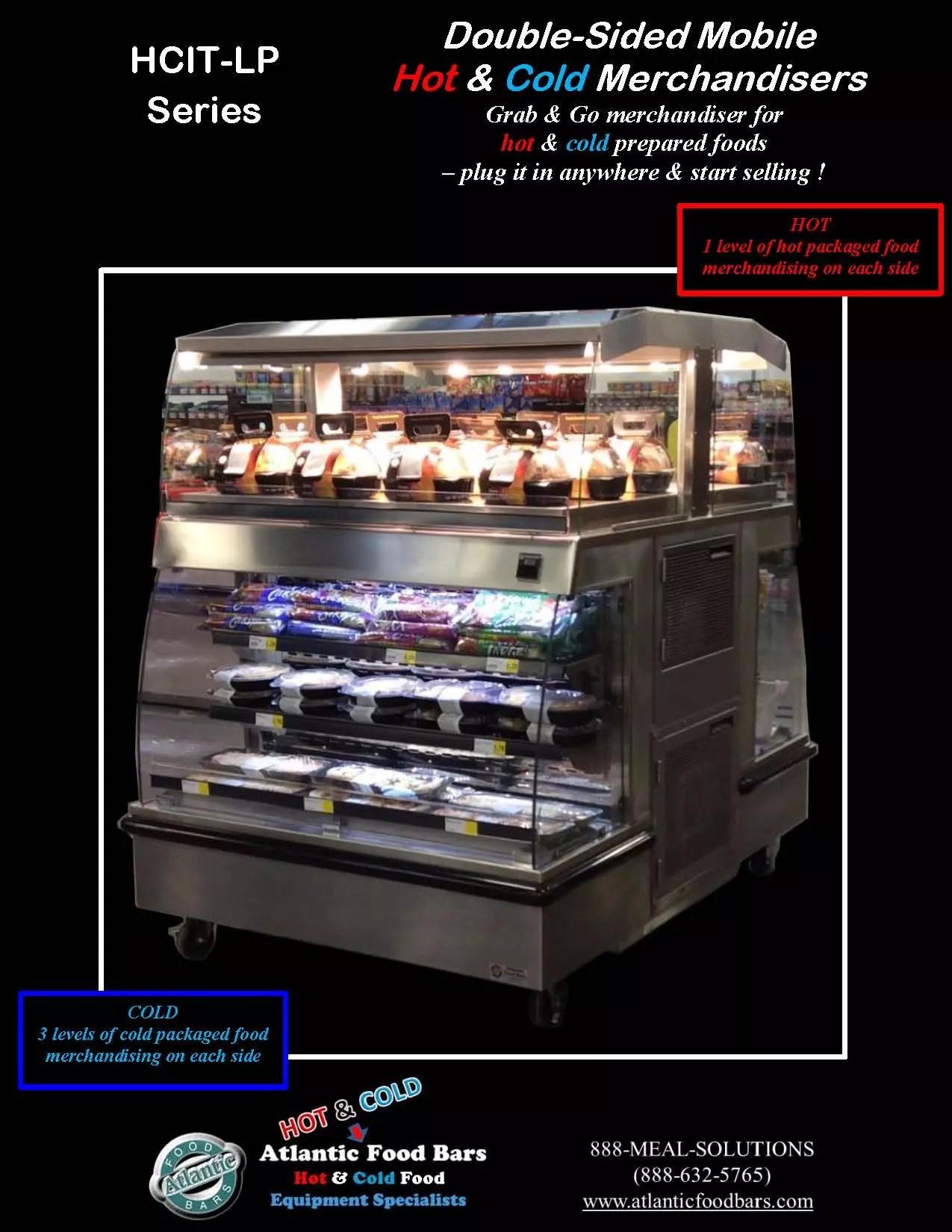 Atlantic food bars 2 sided mobile hot cold grab go for Food bar 2015