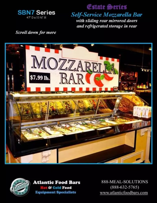 Atlantic Food Bars - Estate Series Self-Service Mozzarella Bar - SB9647N7-DCL-RSD-SC-VH 3