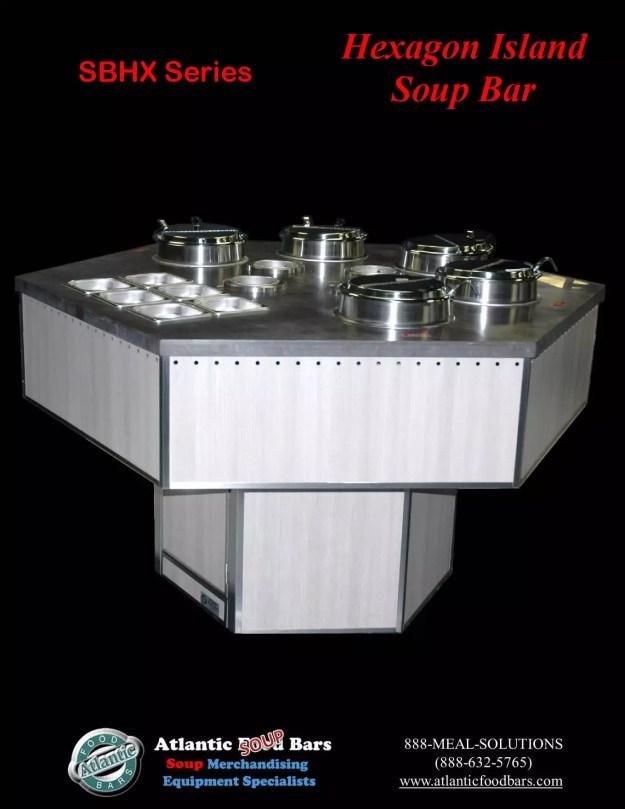 Atlantic Food Bars - Hexagon Soup Bar - SBHX 1