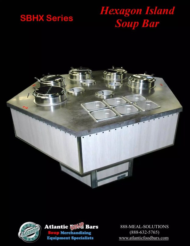 Atlantic Food Bars - Hexagon Soup Bar - SBHX 2
