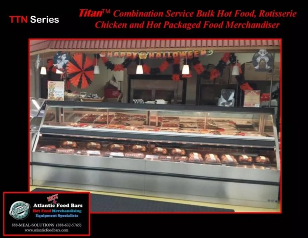 Atlantic Food Bars - Hot and Cold Lineup featuring Combination Service Hot Case, Soup Wedge and Refrigerated Multi-Deck Merchandiser - TTN14444 SW SILR7254 3