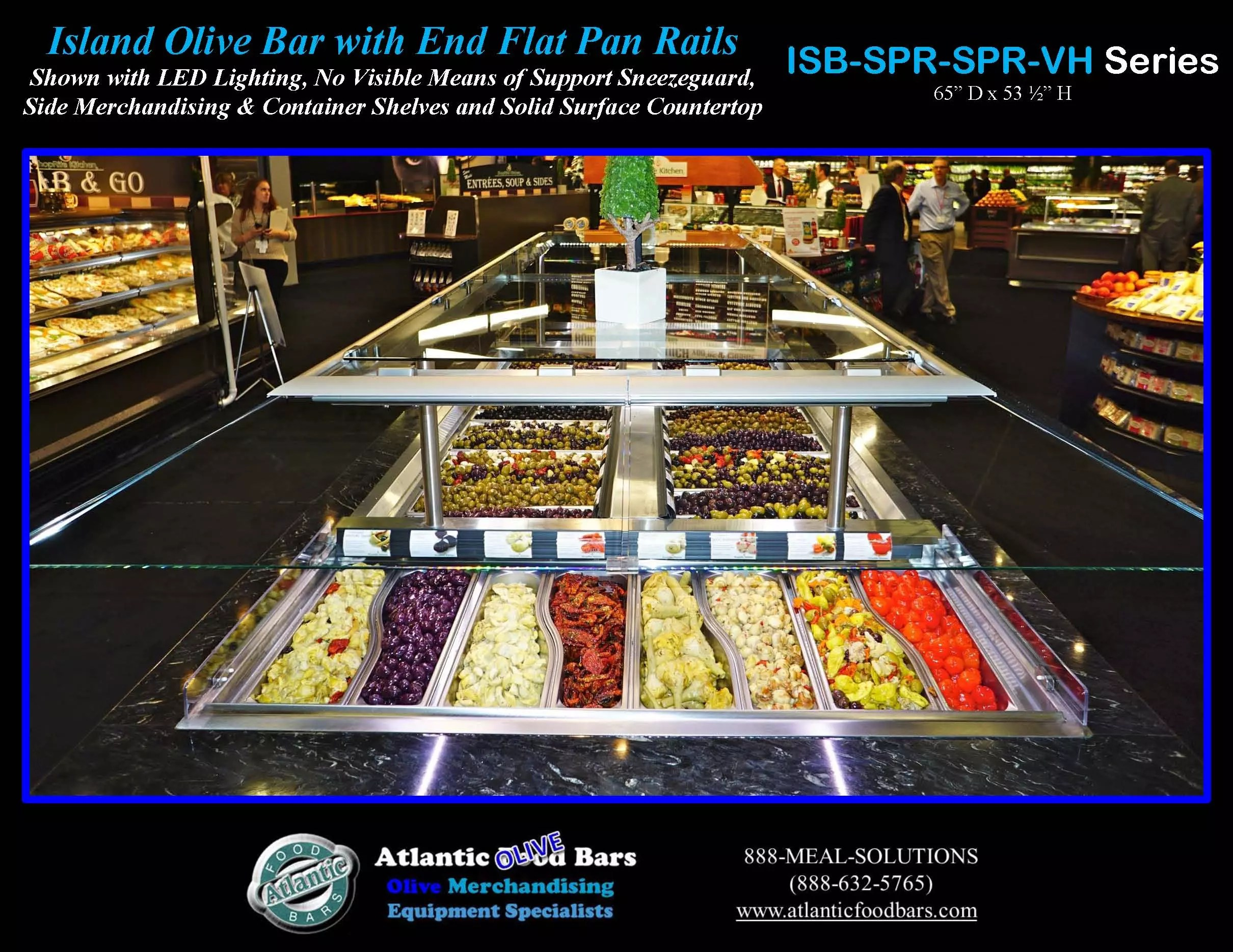 Atlantic food bars refrigerated island olive bar the for Food bar 2015