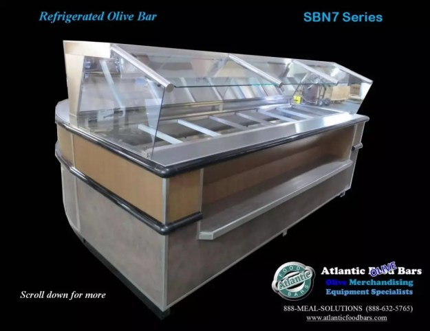 Atlantic Food Bars - Round Soup and Olive Bar Back-to-Back Island - SW9636O and SB9639N7 2