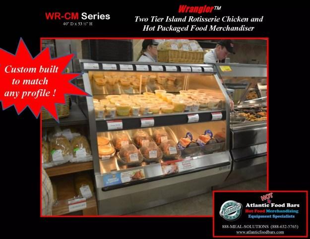 Atlantic food bars hot two tier wrangler chicken case for Food bar 2015