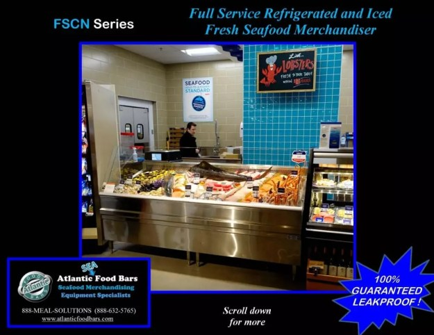 Atlantic Food Bars - 8' Iced and Refrigerated Seafood Case - FSCN9642 2