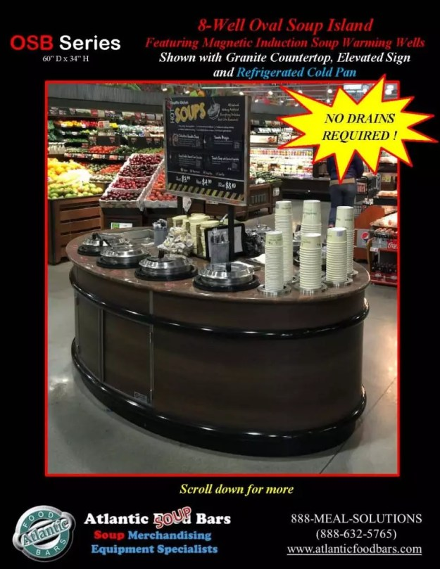 Atlantic Food Bars - 8' Oval Soup Bar with Elevated Sign and Refrigerated Cold Pan - OSB9246-GC-ISW-LB-RCP_Page_2