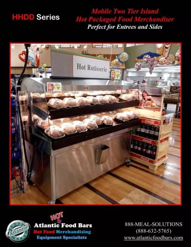 Atlantic Food Bars - Mobile 2-tier Island Hot Packaged Food Merchandiser - HHDD5136_Page_2