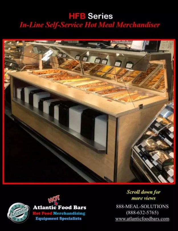 Atlantic Food Bars - 10' In-Line Hot Food Buffet with Woodgrain Laminate - HFB12043_Page_2
