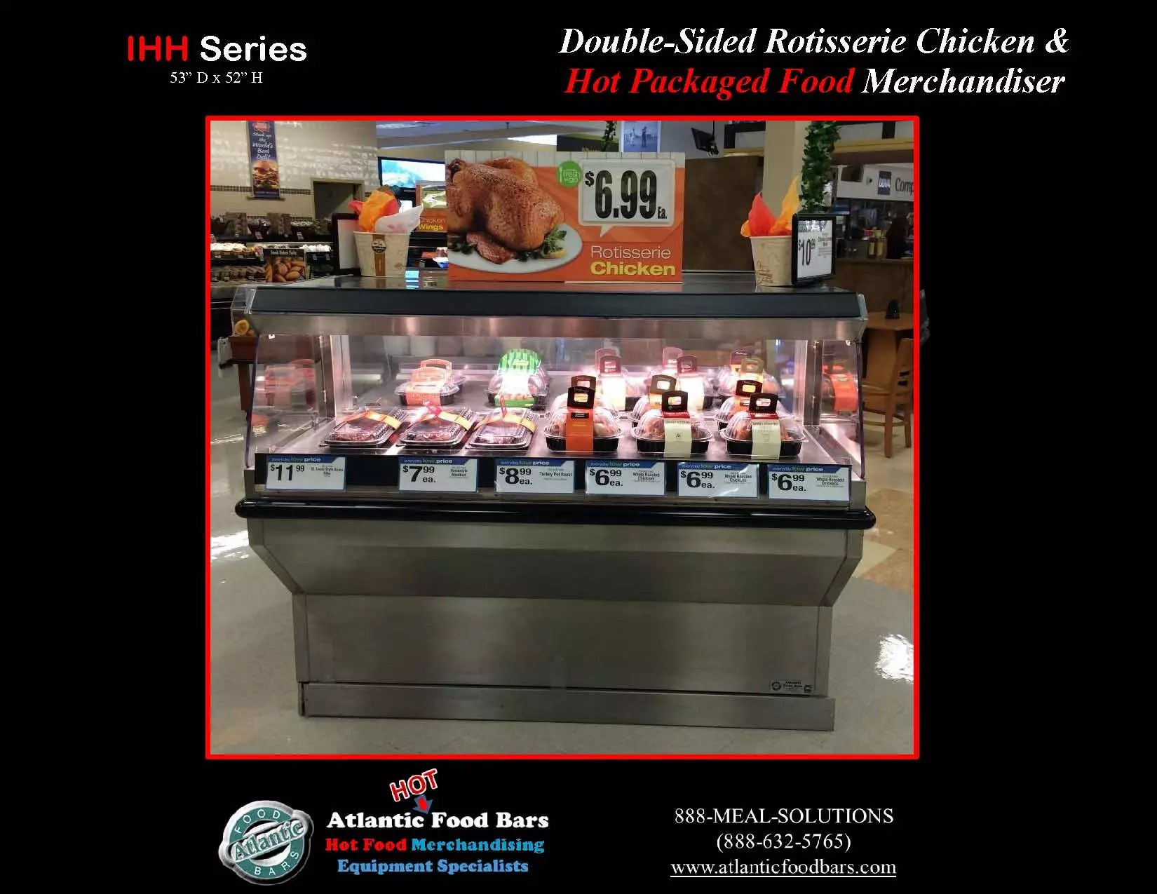 Atlantic Food Bars Double Sided Chicken Merchandiser