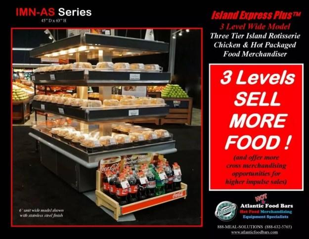 Atlantic Food Bars - Three Level Island Express PLUS Wide Hot Rotisserie Chicken Merchandiser - IMN7245-AS_Page_2