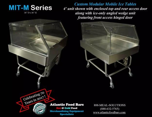 Atlantic Food Bars - Custom Modular Mobile Ice Tables - MIT-M