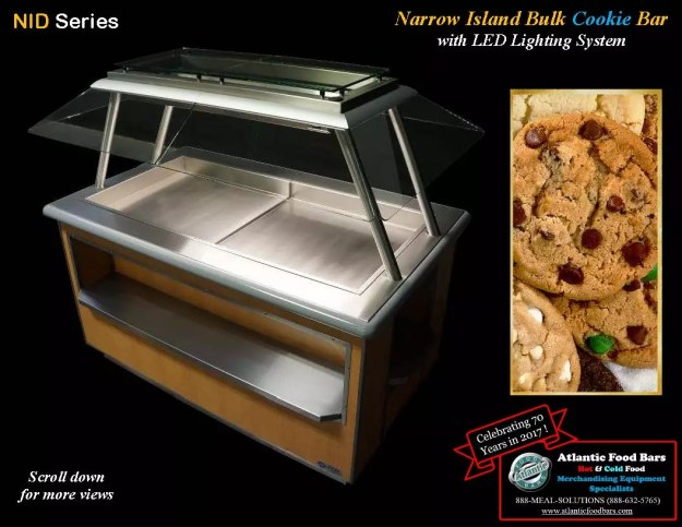Atlantic Food Bars - Narrow Island Bulk Cookie Bar with LED Lighting System - NID
