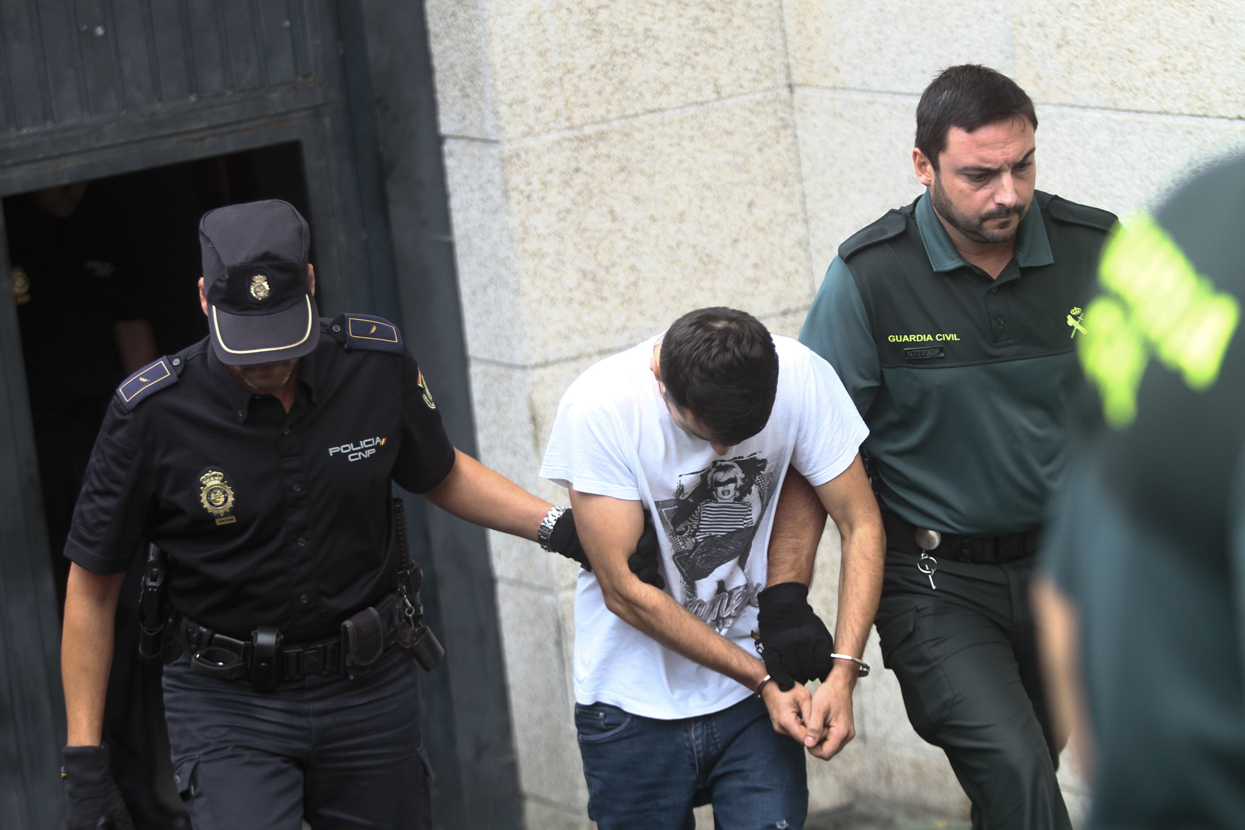 Diego P., de 31 años, uno de los siete presos preventivos del juzgado de Violencia, acusado de la muerte de Divina Mendes.