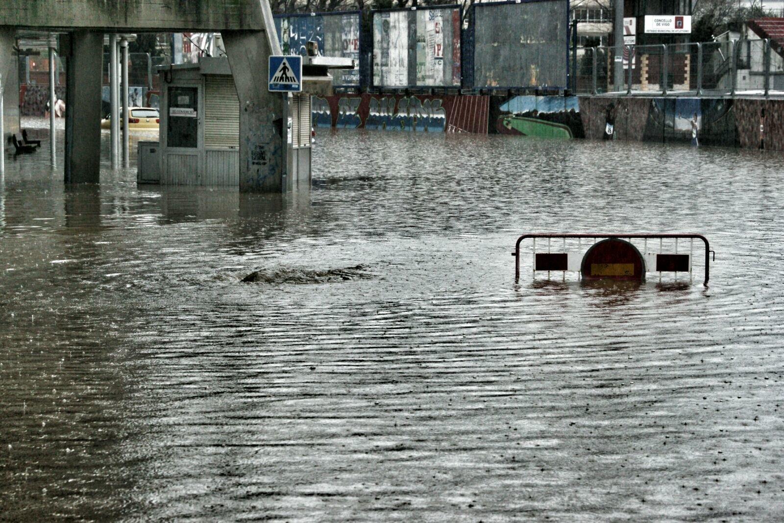 La zona de Balaidos inundada // Vicente Alonso