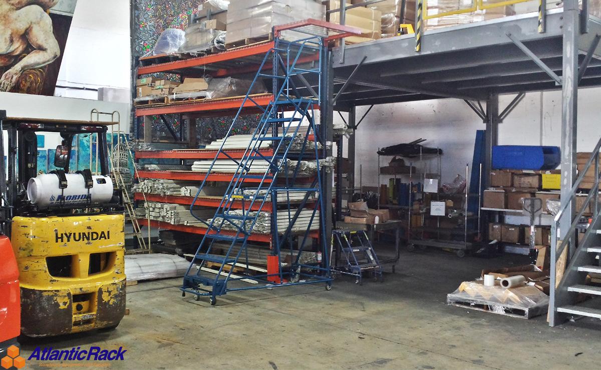 industrial rolling ladders atlantic rack