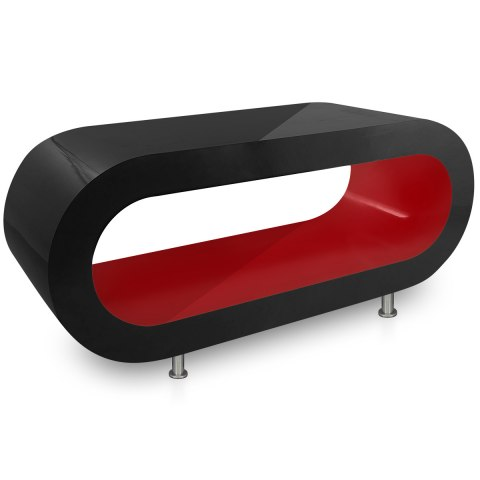 black orbit coffee table red inner