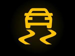 Traction Control Warning Symbol