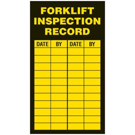 inspection label forklifts