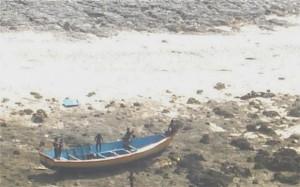 Perahu nelayan yang direbut Sentinelese karena terlalu dekat dengan pulau mereka