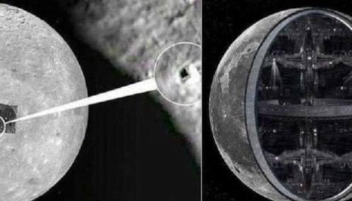Piramid dan struktur Alien di permukaan Bulan dalam Gambar.