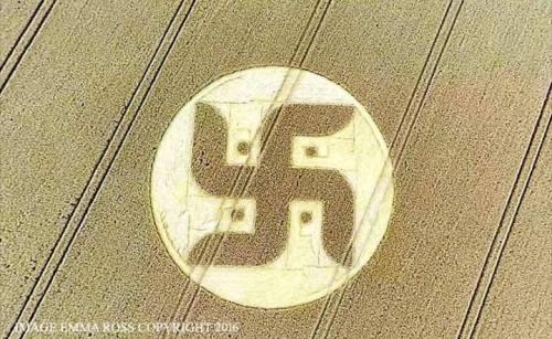 Sebuah cropcircle baru di Cooks Plantation, Nr …