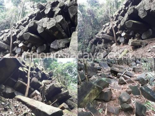 Situs Gunung padang di desa Lemah abang, Doro …