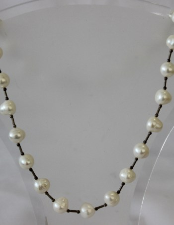 White Round Pearls/S/Silver