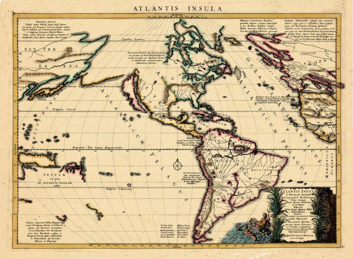 guillermo sanson mapa de la atlantis insula