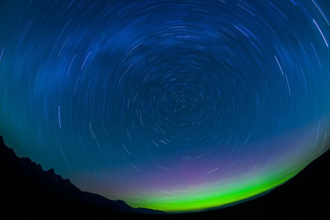 Auroras over Grand Teton National Park
