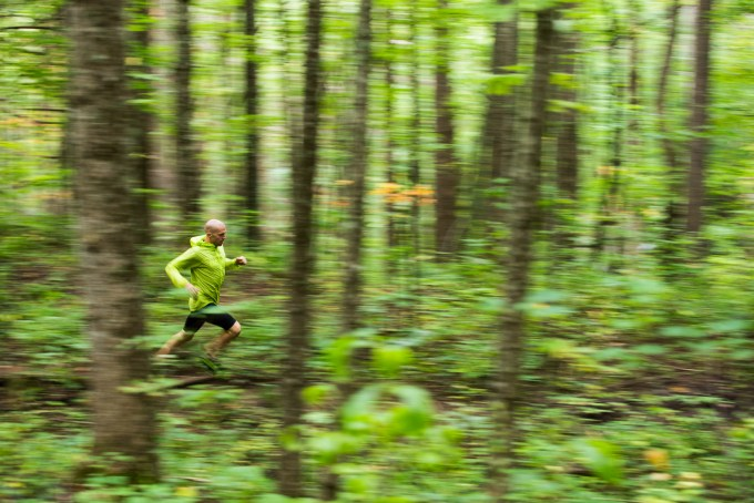 Will Harlan runs at Lake James, North Carolina.