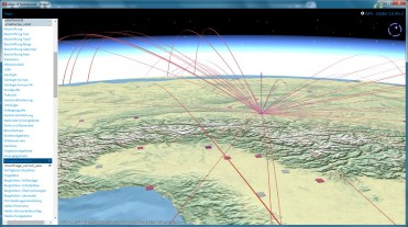 Trajectoires 3D (passagers d'un avion)