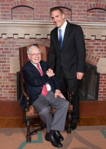 Atlas President Vance Prigge with Warren Buffett