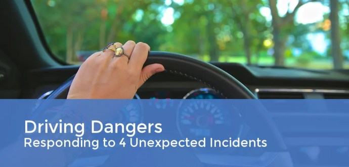 Driving Dangers: Responding to 4 Unexpected Incidents