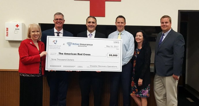 Atlas & Westfield presenting check to American Red Cross