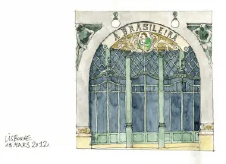 Sketch of Brasileira Cafe