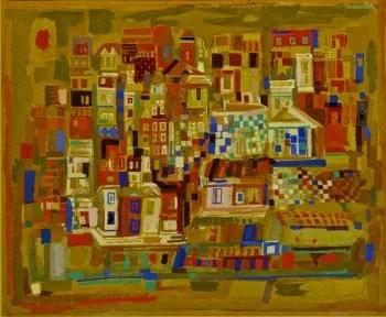 Viera da Silva Painting miniville
