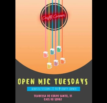 Weekly | OPEN MIC | Acoustic Sessions at Crafty Corner | Cais do Sodré | FREE @ Crafty Corner | Lisboa | Portugal
