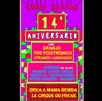 PARTY | Crew Hassan's 14th Anniversary | Intendente | TBD @ Crew Hassan | Lisboa | Lisboa | Portugal