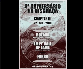 PARTY | Rožava & Empty Hall of Fame & Farsa at Disgraça | Graça | DONATION @ Disgraça | Lisboa | Lisboa | Portugal