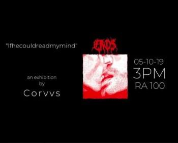 ART EXHIBIT | Corvvs: If He Could Read My Mind | Arroios | FREE @ RA 100 Arroios | Lisboa | Lisboa | Portugal