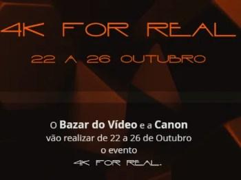 to Oct 26 | MULTIMEDIA WORKSHOPS | 4K for REAL | Avenida | FREE @ Bazar do Vídeo | Lisboa | Lisboa | Portugal