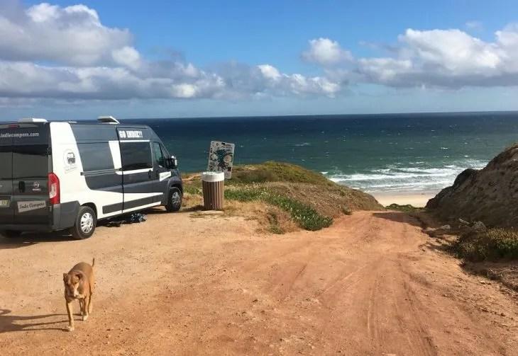 van life near peniche portugal