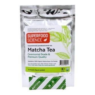 Organic Matcha Green Tea Powder in Stick Packs